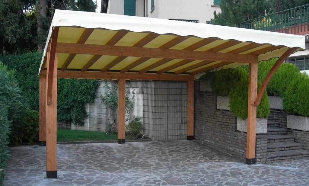 tettoie per auto e car park in legno lamellare