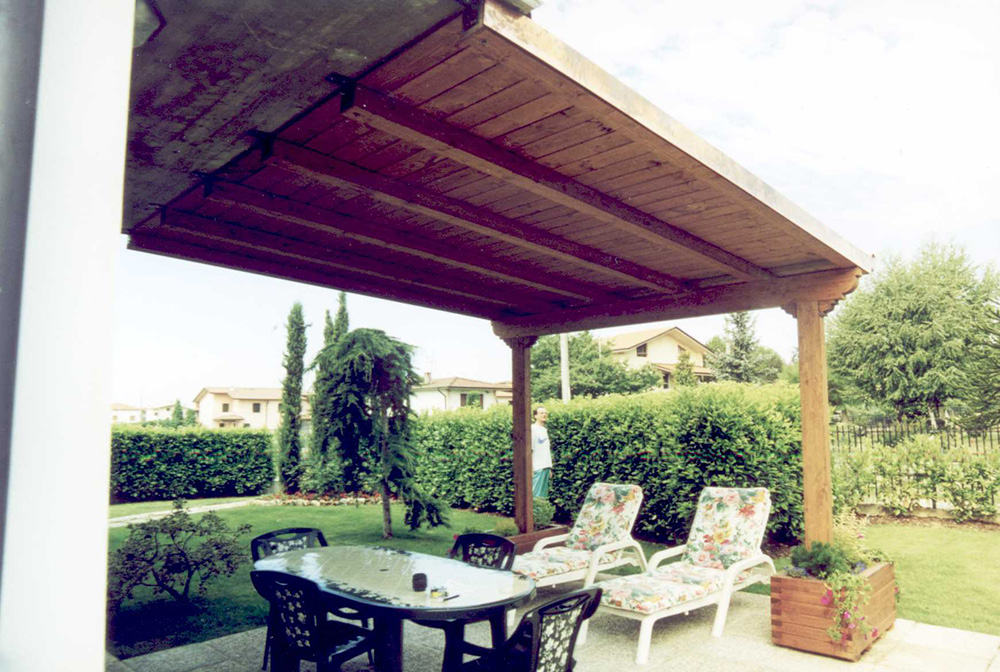 Pergole e coperture per esterno in legno lamellare tendasol - Pergola giardino ...