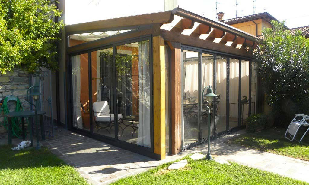 Elegant verande in legno lamellare with il giardino d inverno - Il giardino d inverno ...
