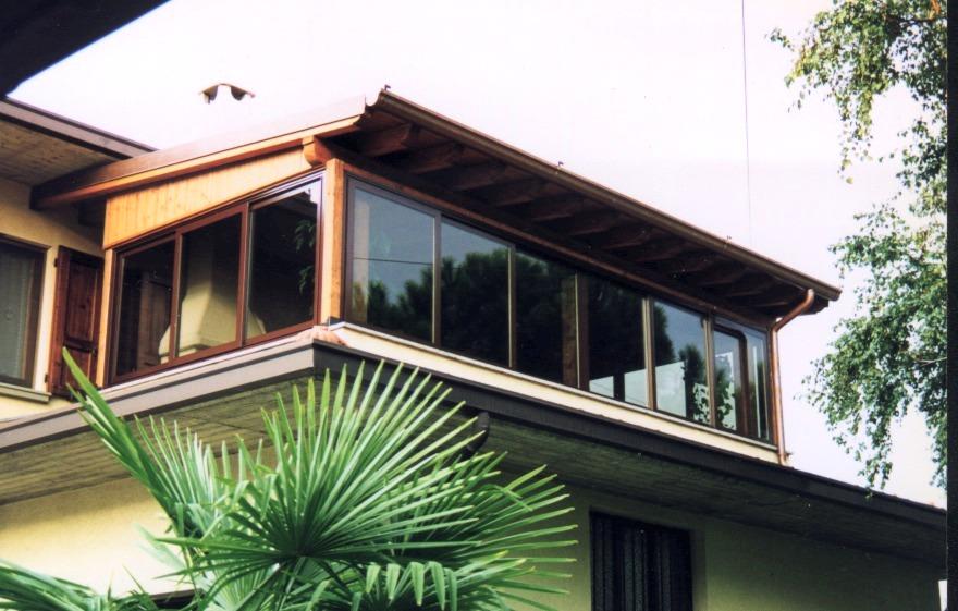 Verande in legno lamellare - Verande su terrazzi ...