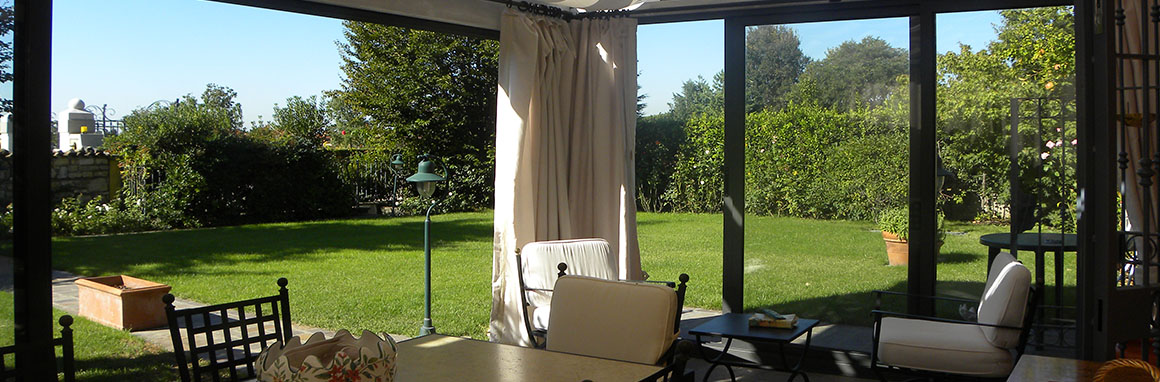 Verande in ferro tendasol brescia bergamo milano for Giardini e verande