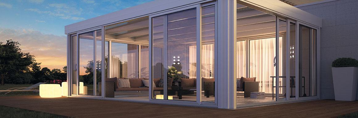 Free giardini duinverno with foto verande in legno for Bocchio serramenti