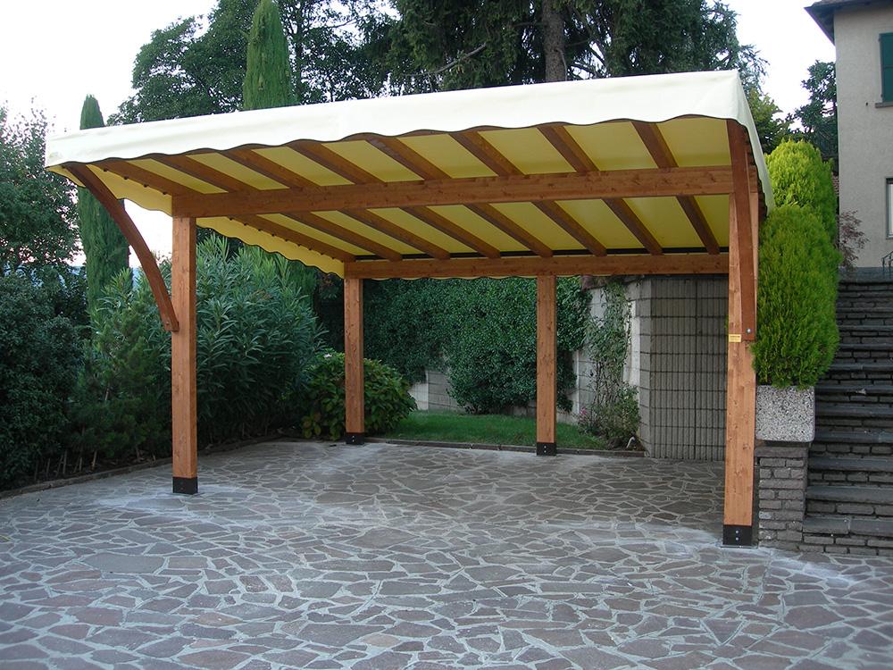 Tettoie per giardino in legno lamellare - Tettoie in legno per esterno ...