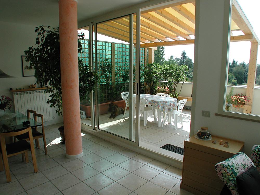 tettoie per terrazzi in legno - 28 images - tettoie per giardino in ...