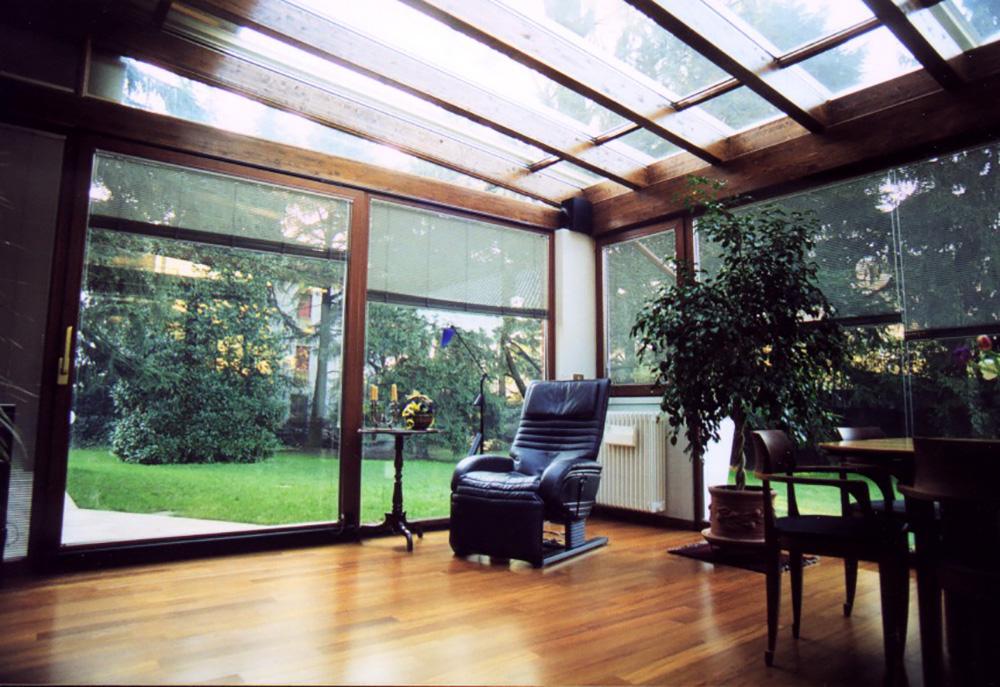 Verande in legno lamellare tendasol brescia bergamo for Giardini e verande