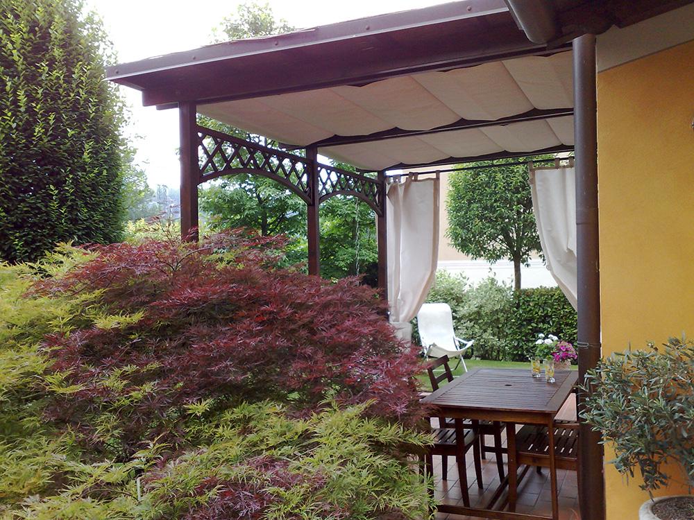 Gazebo in legno lamellare da giardino - Tendasol