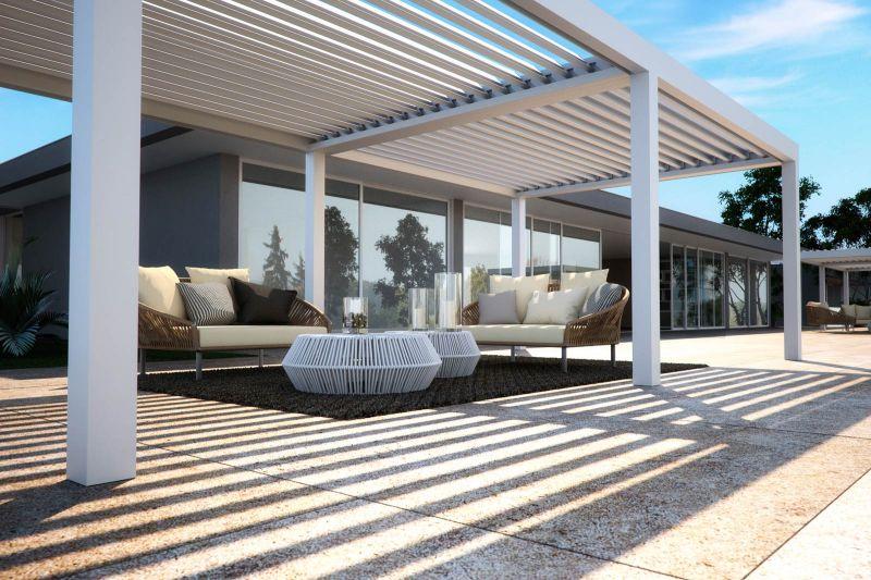 Pergole bioclimatiche Pratic Vision con design eleganti e moderno