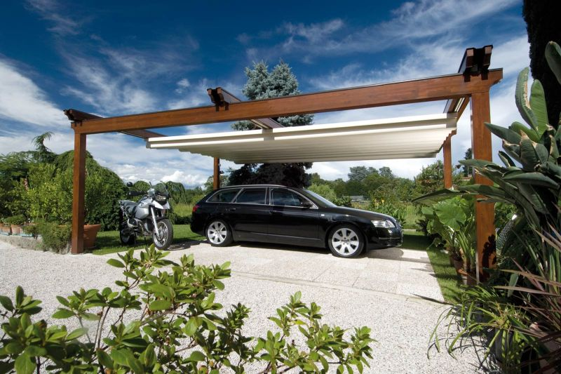 Pergole in Legnoo Wood Tecnic per Garage auto