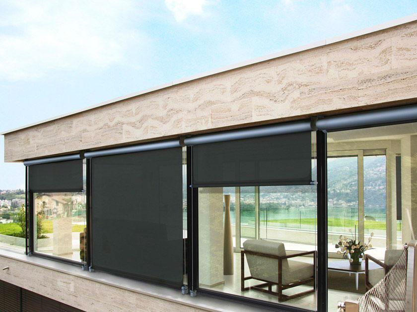 Tende da sole T-Line scure moderne per finestre