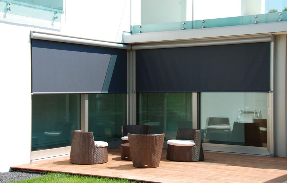 Tende da sole T-Line per cortile esterno elegante
