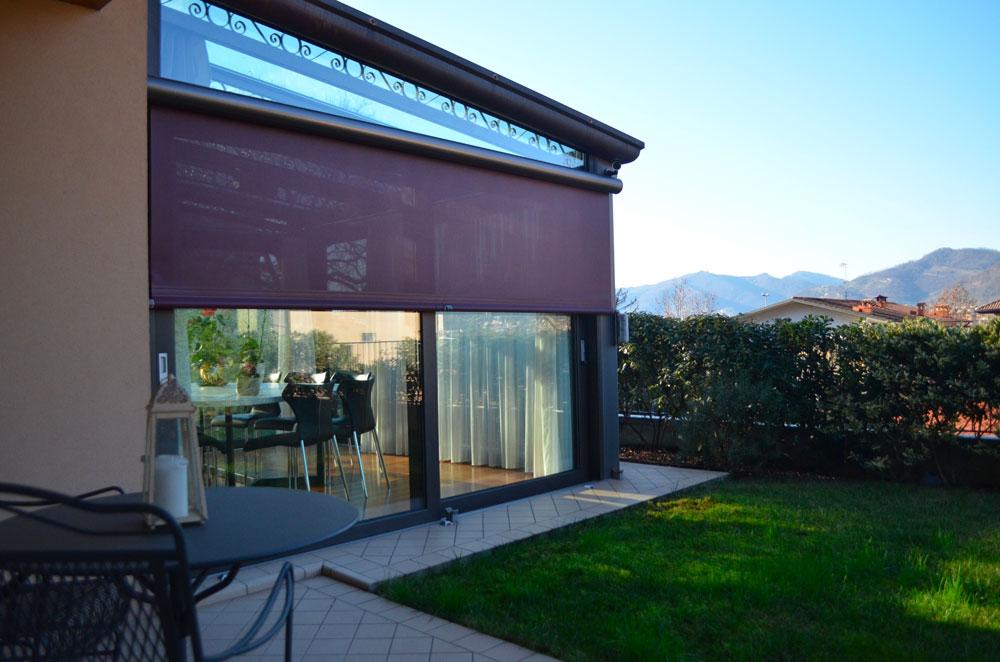 Veranda in alluminio giardino