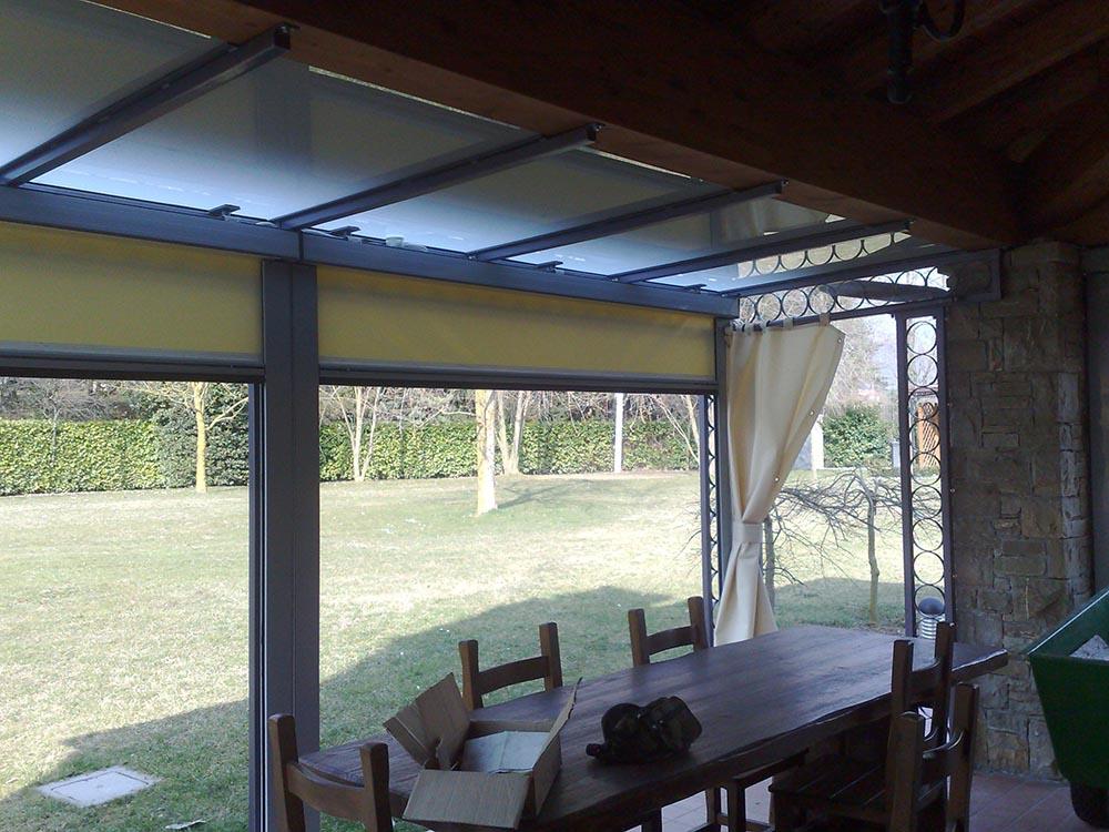 Veranda in ferro per cortile